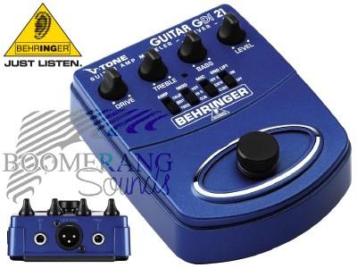 behringer gdi21 v tone guitar di box di boxes distribution amps effects outboard preamps. Black Bedroom Furniture Sets. Home Design Ideas